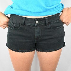PINK Victoria's Secret Shorts - Victoria Secret Black Denim Shorts SZ:2
